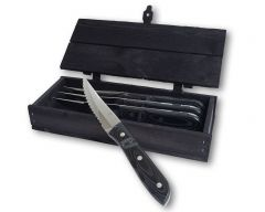 Gense - Old Farmer - Grillkniv XL 4-pack svart